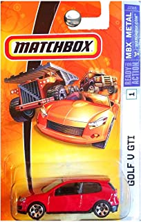 Matchbox MBX Metal Volkswagen VW Golf V GTI Red #1 with Protector