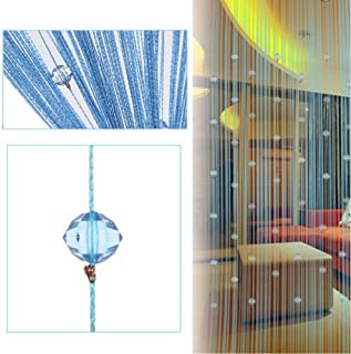 Cortina para puerta con cordeles con cuentas de cristal, panel de cortina para puerta, ventana, divisor de sala