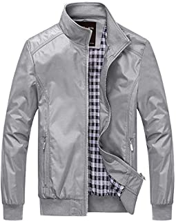 Nantersan Mens Casual Jacket Outdoor Sportswear Windbreaker Lightweight Bomber Jackets and Coats