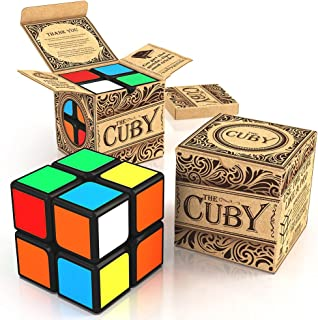 aGreatLife Deluxe Speed Cuby 2x2 Cube - Two - Layer Brain Teaser Colorful Games and Puzzles - Improved Sticker Quality - P...