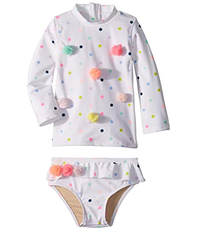 shade critters Multi Dot Rashguard Set (Infant/Toddler) (Multi) Girl