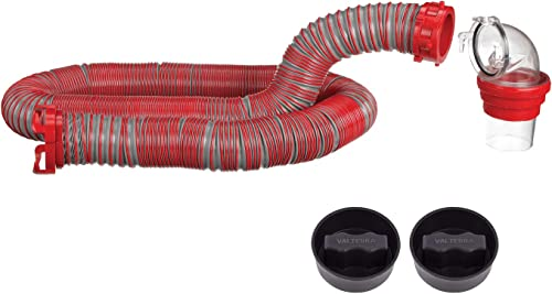 high quality Viper 15-Foot RV Sewer Hose Kit, Universal wholesale Sewer online Hose for RV Camper, Includes 15-Foot Hose with Rotating Fittings, 90 Degree ClearView Sewer Adapter and 2 Drip Caps outlet online sale