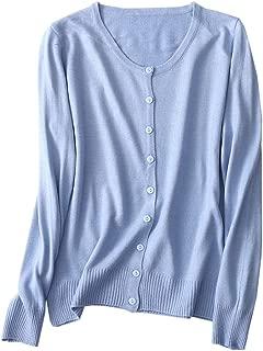 NAWONGSKY Women's Cashmere Button Down Cardigan Sweater