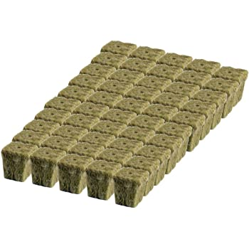 "Grodan 1"" x 1"" Starter Plug Rockwool Hydroponic Grow Media (50 Cubes) (Full Size) (50 Cubes) (Full Size)"