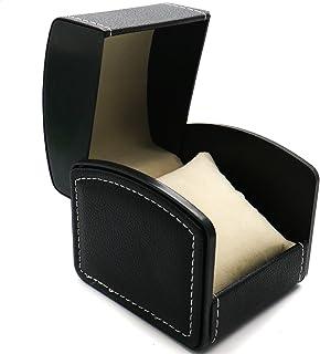 HUELE PU Leather Watch Box Single Slot Watch Case Watch Box Organizer for Men Women Travel Jewelry Storage Case Organizer