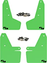RokBlokz Mud Flaps for 2018 + Subaru Crosstrek - Multiple Colors Available - Mud Guards are Custom Cut and Fit - Includes All Mounting Hardware (Lime Green with Black Logo)