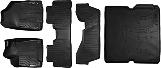 MAXLINER Floor Mats and Cargo Liner Behind 2nd Row Set Black for 2014-2018 Acura MDX with 2nd Row Bench Seat(No Hybrid Models)