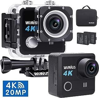 WIMIUS アクションカメラ 4K高画質 1600万画素 ウェアラブルカメラ 手振れ補正 スポーツカメラ wifi搭載 アクションカム 2インチ液晶画面 30M防水ドライブレコーダーとして使用可能水中カメラ (L1黒い)