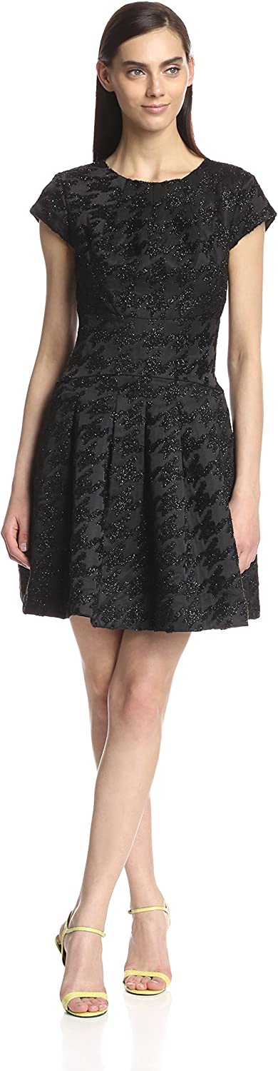 Ted Baker Women's Caley Metallic Jacquard Fit and Flare Dress