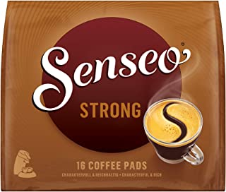 SENSEO Coffee Pods Strong Dark Roast, 160 Pods, 16Count Pods (Pack of 10) for Senseo..