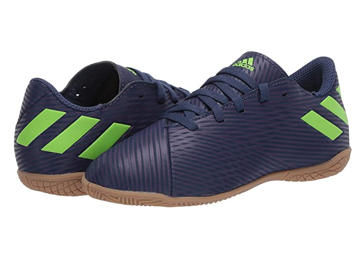 adidas Kids  Nemeziz Messi 19.4 IN Soccer (Little Kid/Big Kid) (Tech Indigo/Signal Green/Glory Purple) Kids Shoes