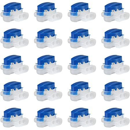 GWHOLE Pack of 20 Electrical IDC 314-BOX Wire Connectors for Robotic Lawn Mowers, Irrigation Applications