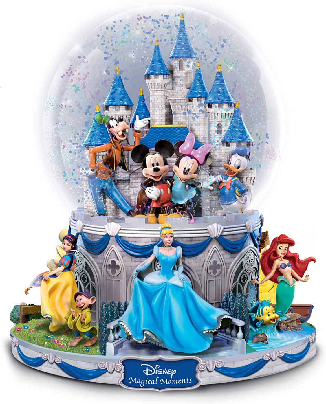 The Bradford Exchange Disney Glitte Large special price !! Raleigh Mall Collectible Rotating Musical