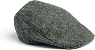 Donegal Touring Cap Tweed Hat - Brown Herringbone (Green Herringbone, X-Large)