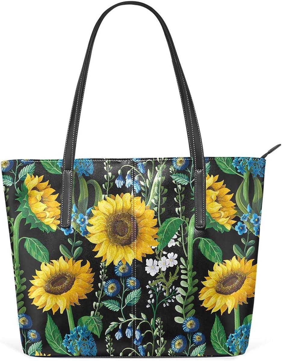 MNSRUU Max 44% OFF Tote Bag for Women Sunflower Max 89% OFF Watercolor Shoulder Big
