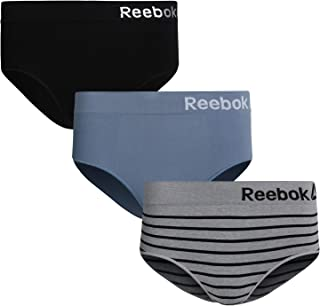 Reebok Women High Waist Nylon/Spandex Seamless Brief Underwear (3 Pack)