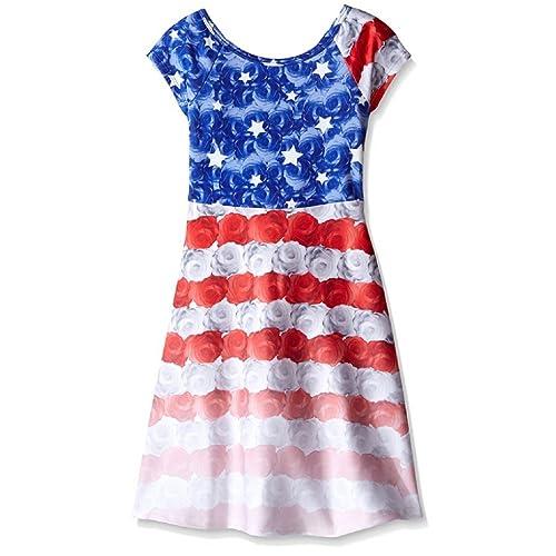 4f059e89e92b8 Bonnie Jean Big Girls Red White Blue Americana 4th July Dress
