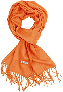 Plain Solid Color Cashmere Feel Classic Soft Luxurious Winter Scarf For Men Women
