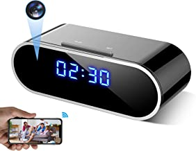 WEMLB WB-726 HD 1080 P WiFi Hidden Camera Alarm Clock Night Vision/Motion Detection/Loop Recording Wireless Security Camer...