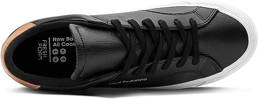 Black/White Leather