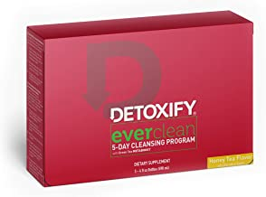 Detoxify Ever Clean Cleansing Program – Honey Tea Flavor – (5) x 4oz bottles | Professionally Formulated 5-Day Longer Term Cleansing Solution | Enhanced With Green Tea, Vitamins & Minerals