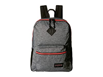 JanSport Super FX (Neon Red Woven Knit) Backpack Bags