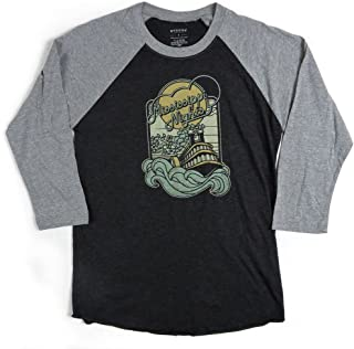 Bygone Brand Mississippi Nights 3/4 Sleeve Raglan Baseball Tee - St. Louis Men's Longsleeve T-Shirt