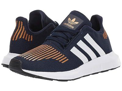 adidas Originals Kids Swift Run (Big Kid) (Collegiate Navy/White/Black) Boys Shoes
