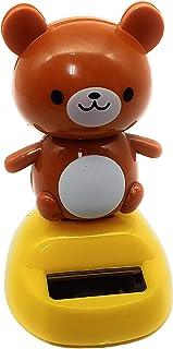 Daiso Japan Solar Powered Swinging Bobblehead… (Brown Bear)