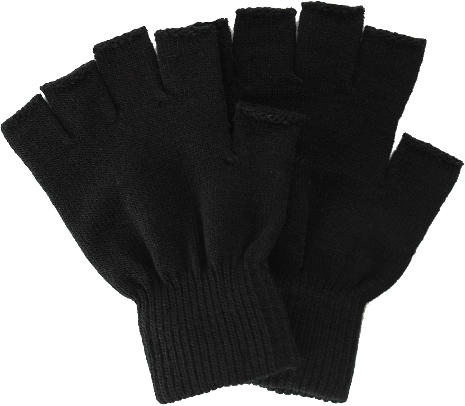 Simplicity Men/Women Winter Classic Solid Colored Knit Gloves