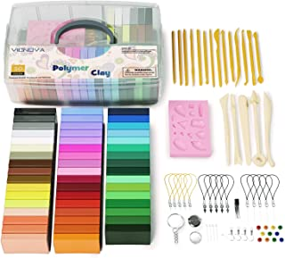 50 Colors Polymer Clay, Multicolored, 50 Colors & Tools
