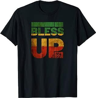 Bless uP Rasta T Shirt Jamaica Roots Rock Reggae T-Shirt