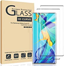 AILIBOTE Glass Screen Protector for Samsung Galaxy Note 10,[2 Pack] 3D Curved Tempered Glass, Dot Matrix with Easy Installation Tray, Case Friendly