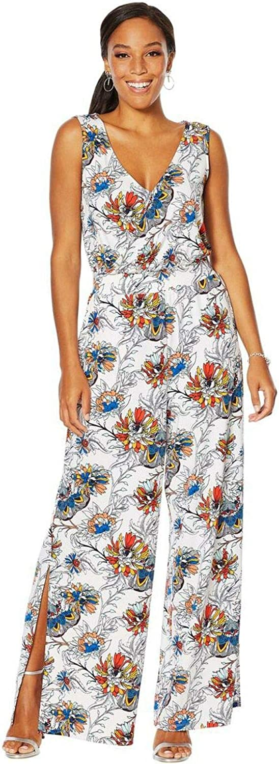 GIULIANA G Translated Knit White Floral Jumpsuit Charlotte Mall