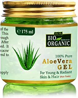 Bio Organic Non-Toxic Aloe Vera Gel for Acne | Scars | Glowing & Radiant Skin Treatment-175ml