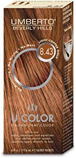 UMBERTO BEVERLY HILLS U Color Hair Color Kit 8.43 Light Copper Gold