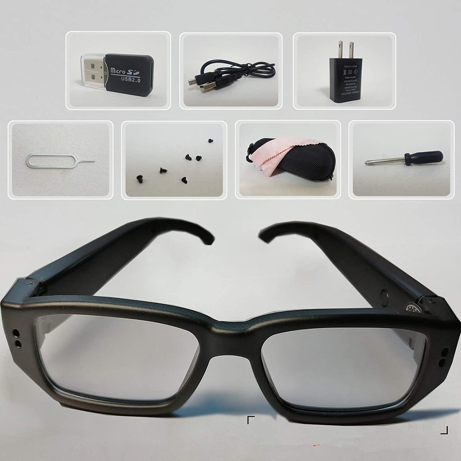 2019 Spy Glasses Hidden Camera Included 32GB for 60-80 Minutes Videos