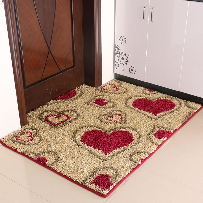 Non-Slip mat,Indoor mats,Doormat,Foot pad Toilet Bathroom Door mats-G 100x140cm(39x55inch)