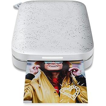 HP Sprocket (1AS85A) Stampante Fotografica Istantanea Portatile e senza Bordi, Bluetooth 5.0 e Led Personalizzabile, Formato carta 5 x 7.6 cm, Compatibile con Android e iOS, Perla