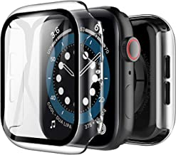 LK [2 Pack] Case for Apple Watch Series 6 / SE 44mm Built-in Tempered Glass Screen Protector,[Model No. TCC571] Hard PC Pr...