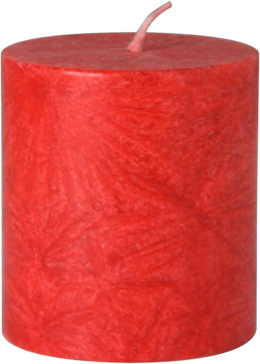 Gr/ö/ße:65mm hoch Stearin-Kerzen in 50mm Durchmesser Farbe:Blau B/ütic GmbH durchgef/ärbte Stumpenkerzen