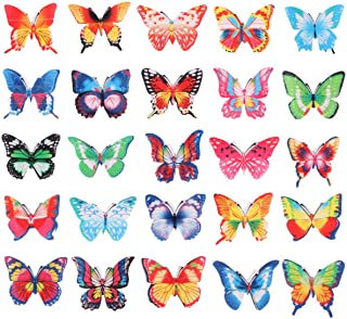 UPKOCH Butterfly Cupcake Toppers 96PCS Eatable Food Decoration Cake Decoration Wafer Paper for Wedding Cakes Desserts