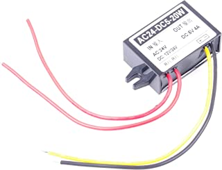 KNACRO AC DC to DC Converter AC 16-28V DC 16-40V 24V 36V Step Down to 5V 4A 20W Power Supply Module (5V 4A)
