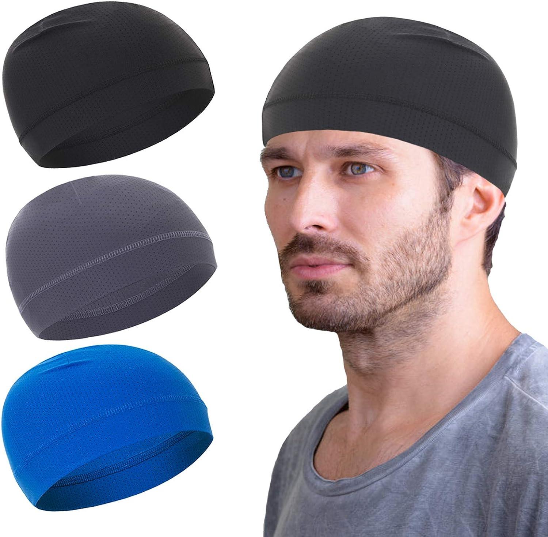 Mesh Dry-Fit Helmet Denver Mall Liner Department store for Men Skull Cap Moistu Cooling Women
