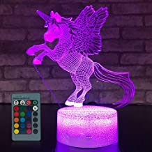 SFOUR Unicorn Gifts for Kids Dimmable LED Nightlight Bedside Lamp,16 Colors+7 Colors Changing,Touch&Remote Control,Best Unicorn Toys Birthday Christmas Gifts for Girls Boys