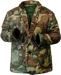 NM Fashions Men's Woobie Bomber Camouflage Style Smooking Line Cotton Jacket
