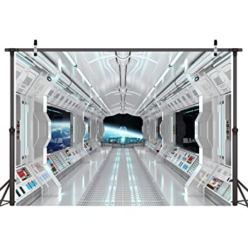 Zhy Helicarrier Interior Backdrop for Photography Air Background 7x5ft 2.1x1.5m Party Decor Supplies Photo Shooting Props 71
