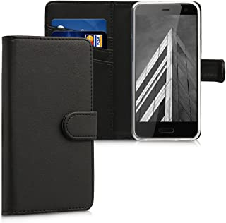 kwmobile Wallet Case for HTC U11 Life - Protective PU Leather Flip Cover with Magnetic Closure, Card Slots and Kickstand