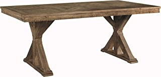 Signature Design By Ashley - Grindleburg Rectangular Dining Room Table - Casual Style - White/Light Brown