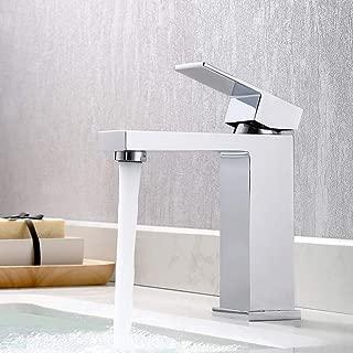 KES Bathroom Sink Faucet Single Handle Lavatory Single Hole Vanity Faucet Lead-Free Brass Polished Chrome Finish, L3120ALF-CH